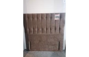 Clearance - Oxford 4'6'' Floor Standing Headboard - Naples Brown