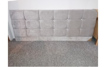 Clearance - Cube with Diamonds 5' strutted Headboard - Naples Silver