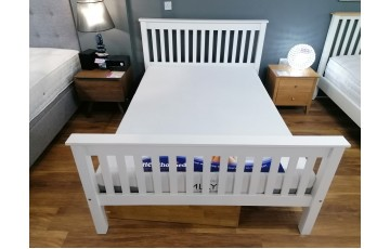 Clearance - Marble 4ft6 High Foot End Bed Frame