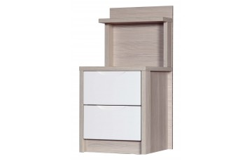 Aston High Gloss 2 Drawer Bedside Special - Multiple Colour Options