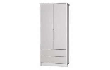 Aston High Gloss 2 Door Combi Robe - Multiple Colour Options