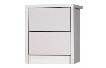 Aston High Gloss 2 Drawer Bedside - Multiple Colour Options