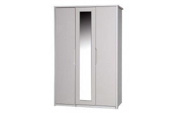 Aston High Gloss 3 Door Robe With Mirror - Multiple Colour Options