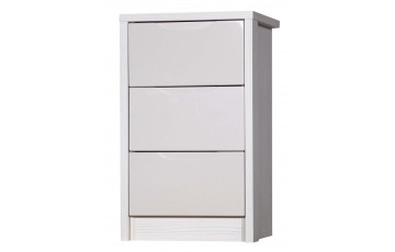 Aston High Gloss 3 Drawer Bedside - Multiple Colour Options