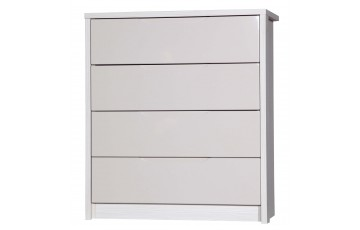 Aston High Gloss 4 Drawer Chest - Multiple Colour Options