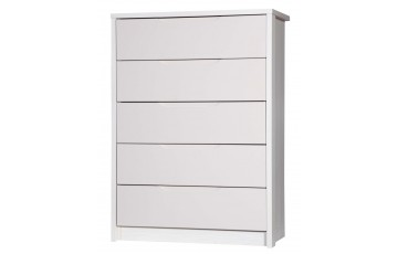 Aston High Gloss 5 Drawer Chest - Multiple Colour Options