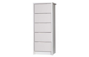 Aston High Gloss 5 Drawer Tall Boy - Multiple Colour Options
