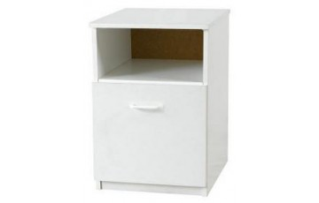 Eclipse White Bedside Cabinet with Door