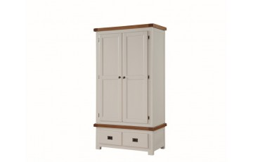 Henley Painted Solid Oak 2 Door Wardrobe