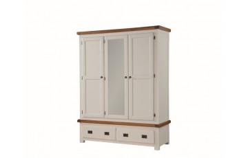 Henley Painted Solid Oak Triple Door Wardrobe