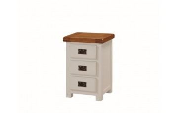 Henley Painted Solid Oak 3 Drawer Bedside cabinet