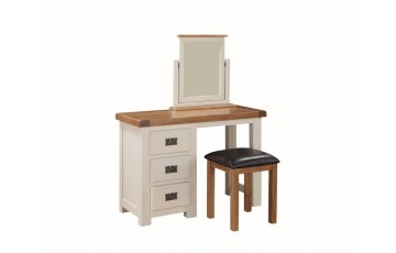 Henley Painted Solid Oak Dressing Table & Footstool