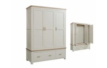Tamworth Painted White Triple Wardrobe