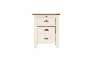 Canterbury White Painted 3 Drawer Bedside Chest