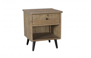 Vienna Reclaimed 1 Drawer Bedside