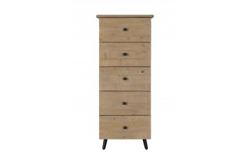 Vienna Reclaimed 5 Drawer Tall Chest