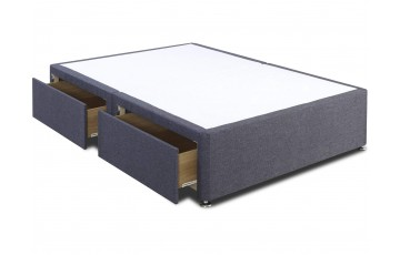 Galaxy Divan Bed Base Only - 5ft King Size - Any Colour