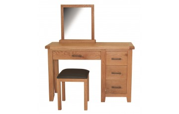 Hastings Solid Rustic Oak Dressing Table Set