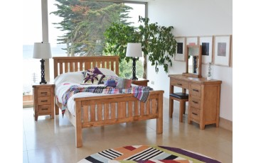 Hastings Solid Rustic Oak 6ft Bed Frame