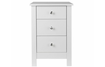 Florence 3 Drawer Bedside Chest in White