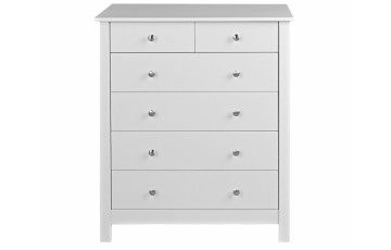 Florence 4 + 2 Drawer Chest in White