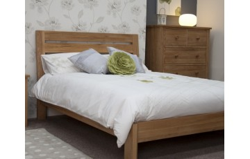 Monaco Solid Oak 3ft Bed Frame