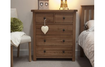 Chicago Solid Oak 2 Over 3 Bedroom Chest