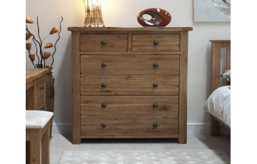 Chicago Solid Oak 2 over 4 Bedroom Chest
