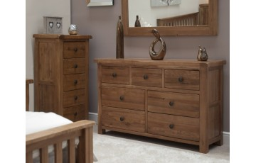 Chicago Solid Oak 7 Drawer Multi Chest