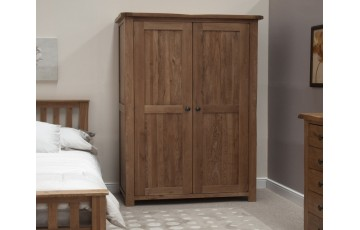 Chicago Solid Oak Double Wardrobe