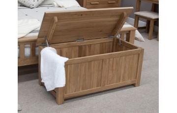Sherwood Deluxe Solid Oak Blanket Box
