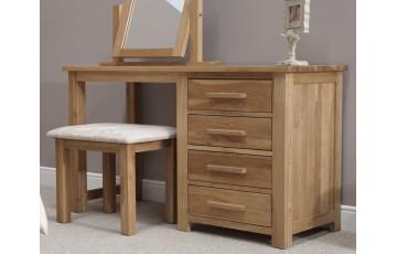 Sherwood Deluxe Solid Oak Dressing Table & Footstool