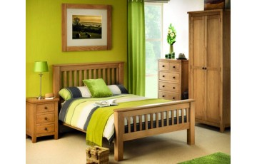 Arizona 4ft6 Solid Oak Bed Frame