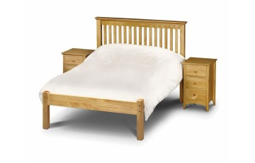 COMBO DEAL - Madrid Pine 4ft6 Low Footend Bed Frame - Choice of Mattress