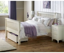 Madrid Stone White 4ft6 High Footend Bed Frame