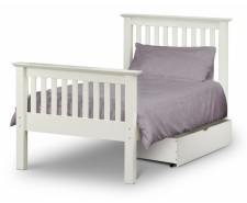 Madrid Stone White 3ft High Footend Bed Frame