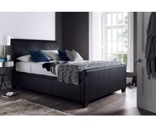 Antoinette 5ft Real Leather Ottoman Bed Frame