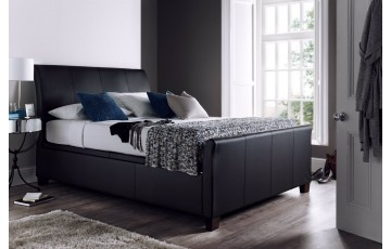 Antoinette 6ft Real Leather Ottoman Bed Frame