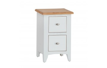Georgia Oak Painted Small Bedside Chest