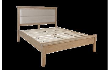 Hamilton 5ft Oak Bedframe with Fabric Headboard