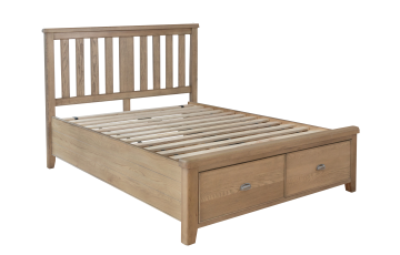 Hamilton 5ft Oak Bedframe with Drawers