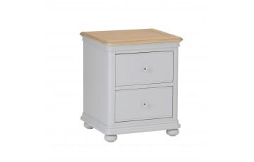 Mila Oak Painted 2 Drawer Bedside Cabinet