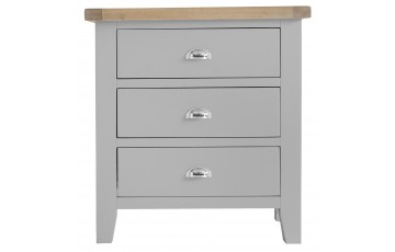 Trieste Grey Oak Painted 3 Drawer Chest