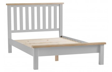 Trieste Grey Oak Painted 4ft6 Double Bed Frame