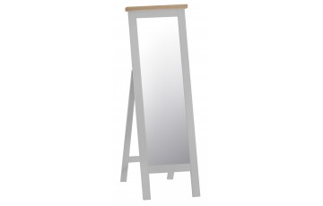 Trieste Grey Oak Painted Cheval Mirror