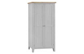 Trieste Grey Oak Painted Full Hanging Wardrobe