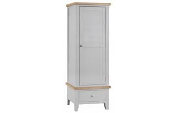 Trieste Grey Oak Painted Single Wardrobe