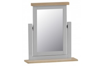 Trieste Grey Oak Painted Trinket Mirror