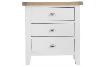 Trieste Oak Painted 3 Drawer Chest