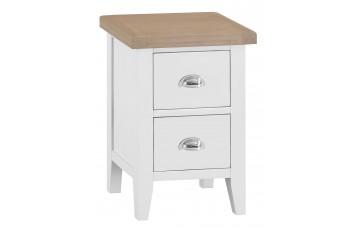 Trieste Oak Painted 2 Drawer Small Bedside Cabinet